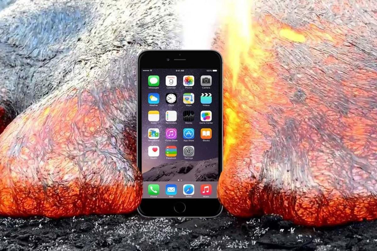 iPhone 6S'i kızgın lava attılar