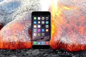 "<span class=""hot"">Flaş <i class=""fa fa-bolt""></i></span> iPhone 6S'i kızgın lava attılar"
